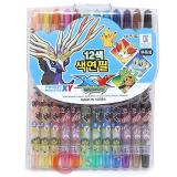 Nintendo  Pokemon XY 12pc Twist Up Coloring Pencil Set with Xerneas Yveltal