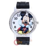 Disney Mickey Mouse Wrist Watch Round Rhinestone Bezel Wrist Watch