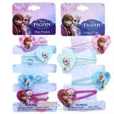 Disney Frozen Snap Clips  Hair Ponies Set Elas Anna Olaf Hair Accessories Set