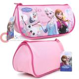 Disney Frozen Elsa and Anna Zippered  Pencil Case Cosmetic Half Moon Pouch Bag - Princess Pink