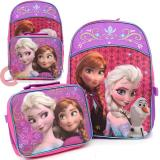 Disney Frozen Elsa Anna Large Backpack with Detachable Lunch Bag Combo