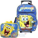 "Nick Spongebob 16"" School Roller Backpack Lunch Bag 2pc Set -Star Bubble"