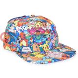 Pokemon Characters All Over Sublimated Print Hat Snap Back Cap