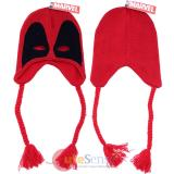 Marvel Deadpool Mask Knitted Laplander Hat , Beanie with Ear Flap (Teen-Adult)