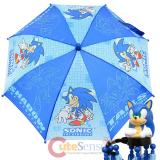 Sonic The Hodgehog Kids Umbrella with 3D Figure Handle - Dr Eggman