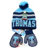 Thomas Tank Engine Friends Beanie Mitten Gloves Set - College Stripe Cuff Blue