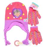 Disney Doc Mcstuffins Beanie Gloves Set - Doc is In Pink Dots