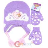 Disney Sofia The First Beanie Mitten Gloves Set - Real Life Princess Purple