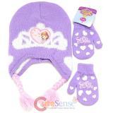 Disney Sofia The First Beanie Mitten Gloves Set - Real Life Princess Purple