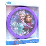 Disney Frozen Elsa and Anna Wall Clock -9.5in Round Watch