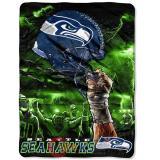 NFL  Seattle Seahawks Twin Plush Blanket -Sky Helmet