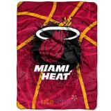 NBA Miami Heat Twin Plush Mink Blanket Raschel Throw
