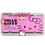 Sanrio Hello Kitty License Plate Frame Rhinestone Logo Emblem Auto Accessories