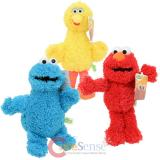 Sesame Street 3pc Plush Doll Set - Elmo Cookie Monster Big Bird