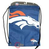 NFL Denver Broncos Drawstring Backpack Sling Bag