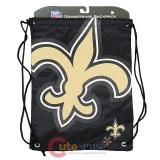 NFL New Orleans Saints Drawstring Backpack Sling Bag