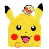 Pokemon XY Pikachu Face Beanie Hat with Ear