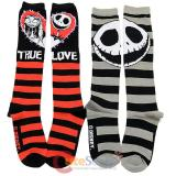 Nightmare Before Christmas Knee High Knee High Socks Set - Jack & Sally