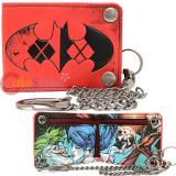Batman Harley Quinn Bi Fold Snap Chain Wallet