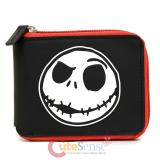 Nightmare Before Christmas Jack Face Zippered Wallet
