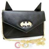 Batman Envelope Wallet with Shoudler Chain