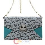 Nightmare Before Christmas Jack Face Envelope Wallet with Shoulder Chain