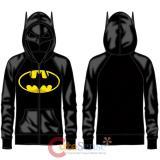 DC Comic Batman Half Mask Costume Hoodie Logo Costumes Jacket -M