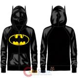 DC Comic Batman Half Mask Costume Hoodie Logo Costumes Jacket -L
