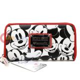 Disney Mickey Mouse Multi Face All Over Zip Around Wallet