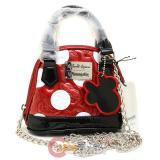 Disney Mickey  Minnie Mouse Red Embossed Micro Dome Crossbody Purse Bag by Loungefly