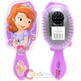 Disney Sofia The First Hair Brush Large Diecut Purple Hair Accessory
