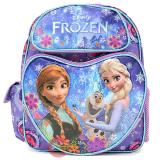 "Disney Frozen Elsa Anna 12"" School Backpack All Over Prints Blue Snowflakes Love  with Olaf"