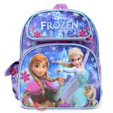"Disney Frozen Elsa Anna 12"" School Backpack All Over Prints Blue Snowflakes with Olaf"