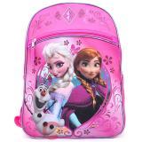 """Disney Frozen 16"""" Large School Backpack Elsa Anna Olaf Pink Bag"""
