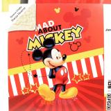 Disney Mickey Mouse Plush Blanket Microfibra Sherpa Reverse Throw (59x79) Mad Abut Mickey