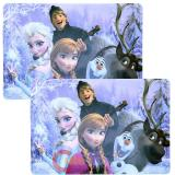 Disney Frozen Elsa Anna Dining Placemat 2pc Set with Olaf  kristoff Sven