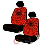 Marvel Spiderman Web Spider 4pc Front Car Seat Cover Set -Low Back w Head Rest Covers