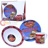 Disney Cars McQueen 3pc Porcelain  Dinnerware Set