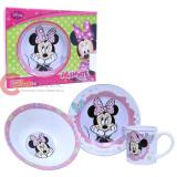 Disney Minnie Mouse 3pc Porcelain  Dinnerware Set