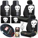 Marvel Punisher Car Seat Covers Accessories Complete Low Back 12PC Set