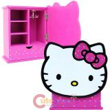 Sanrio Hello Kitty Armoire Wooden Jewelry Box  Mini Storage - Rainbow Star