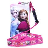 Disney Frozen Elsa Anna Lanyard with Coin Wallet Pink