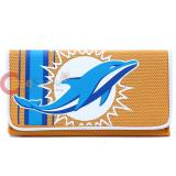 NFL Miami Dolphins Organizer Mesh Wallet Clutch Ladies Wallet