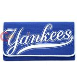 MLB NY Yankees  Organizer Mesh Wallet Clutch Ladies Wallet
