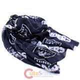 NFL Oakland Raiders Logo All Over Prints Infinity Scarf
