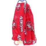 NFL San Francisco 49ers Logo All Over Prints Infinity Scarf