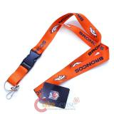 NFL  Denver Broncos  Lanyard Key Chain ID Holder - Orange