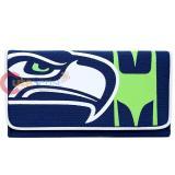 NFL Seattle Seahawks Organizer Mesh Wallet Clutch Ladies Wallet
