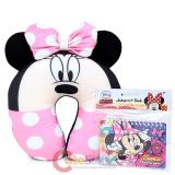 Disney Minnie Mouse Neck Rest Pillow Travel Cushion with Pink Bow and Ear