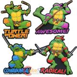 TMNT Teenage Mutant Ninja Turtles Soft Touch PVC Magnet - 4pc Set